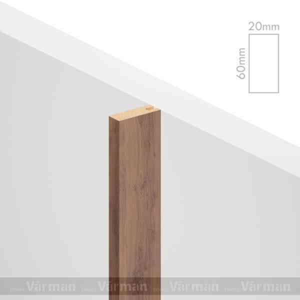 Рейка пристенная 20✕60 (60х20х60) Декоративные панели МДФ, Панель МДФ, Фанерирование, Декоративные стеновые панели, стековые панели для внутренней отделки, декоративные панели для стен, Декоративные стековые панели, Шпонированные панели МДФ, Шпонированные панели, фанерованные панели МДФ, Производство панелей из МДФ, стековая МДФ панель, ламель, рейка, баффель, брусок, реечный потолок, балка, палка, реечные перегородки, декоративные рейки, массив, шпон, декоративные панели, деревянная,Натуральный шпон дуба, ясеня, американского ореха