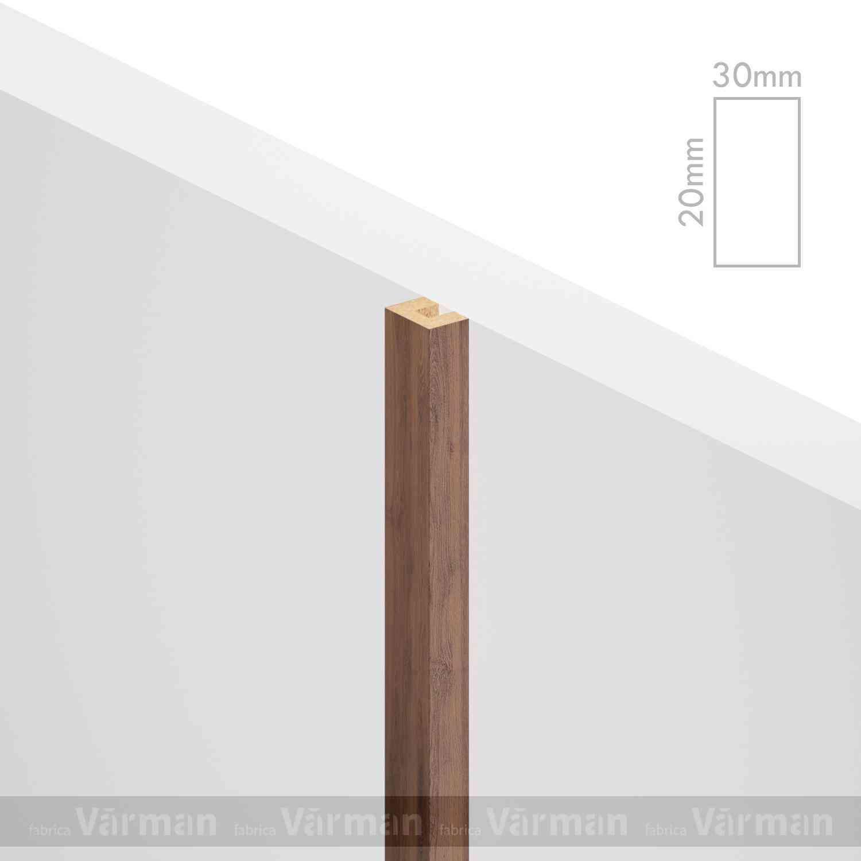 Рейка пристенная 30✕20 (20х30х20) Декоративные панели МДФ, Панель МДФ, Фанерирование, Декоративные стеновые панели, стековые панели для внутренней отделки, декоративные панели для стен, Декоративные стековые панели, Шпонированные панели МДФ, Шпонированные панели, фанерованные панели МДФ, Производство панелей из МДФ, стековая МДФ панель, ламель, рейка, баффель, брусок, реечный потолок, балка, палка, реечные перегородки, декоративные рейки, массив, шпон, декоративные панели, деревянная,Натуральный шпон дуба, ясеня, американского ореха