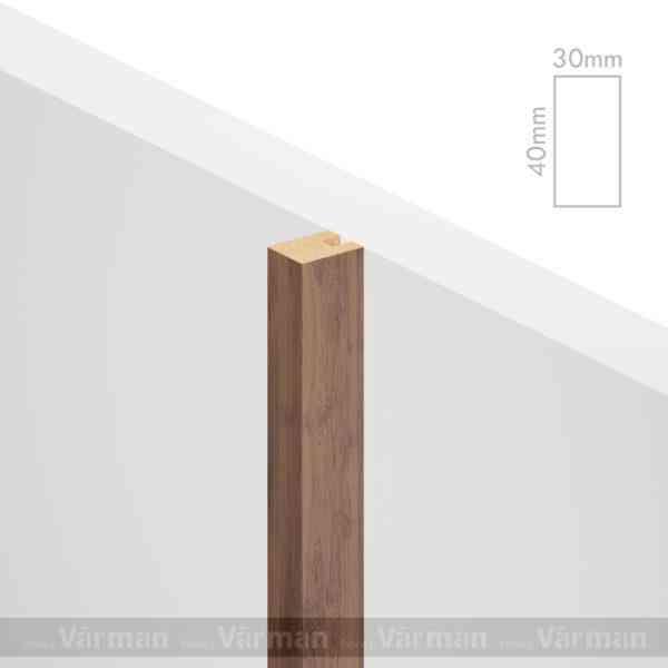 Рейка пристенная 30✕40 (40х30х40) Декоративные панели МДФ, Панель МДФ, Фанерирование, Декоративные стеновые панели, стековые панели для внутренней отделки, декоративные панели для стен, Декоративные стековые панели, Шпонированные панели МДФ, Шпонированные панели, фанерованные панели МДФ, Производство панелей из МДФ, стековая МДФ панель, ламель, рейка, баффель, брусок, реечный потолок, балка, палка, реечные перегородки, декоративные рейки, массив, шпон, декоративные панели, деревянная,Натуральный шпон дуба, ясеня, американского ореха