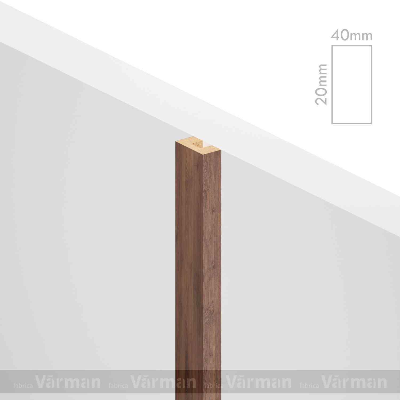 Рейка пристенная 40✕20 (20х40х20) Декоративные панели МДФ, Панель МДФ, Фанерирование, Декоративные стеновые панели, стековые панели для внутренней отделки, декоративные панели для стен, Декоративные стековые панели, Шпонированные панели МДФ, Шпонированные панели, фанерованные панели МДФ, Производство панелей из МДФ, стековая МДФ панель, ламель, рейка, баффель, брусок, реечный потолок, балка, палка, реечные перегородки, декоративные рейки, массив, шпон, декоративные панели, деревянная,Натуральный шпон дуба, ясеня, американского ореха