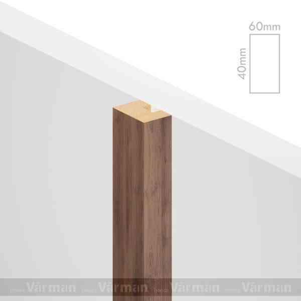 Рейка пристенная 60✕40 (40х60х40) Декоративные панели МДФ, Панель МДФ, Фанерирование, Декоративные стеновые панели, стековые панели для внутренней отделки, декоративные панели для стен, Декоративные стековые панели, Шпонированные панели МДФ, Шпонированные панели, фанерованные панели МДФ, Производство панелей из МДФ, стековая МДФ панель, ламель, рейка, баффель, брусок, реечный потолок, балка, палка, реечные перегородки, декоративные рейки, массив, шпон, декоративные панели, деревянная,Натуральный шпон дуба, ясеня, американского ореха