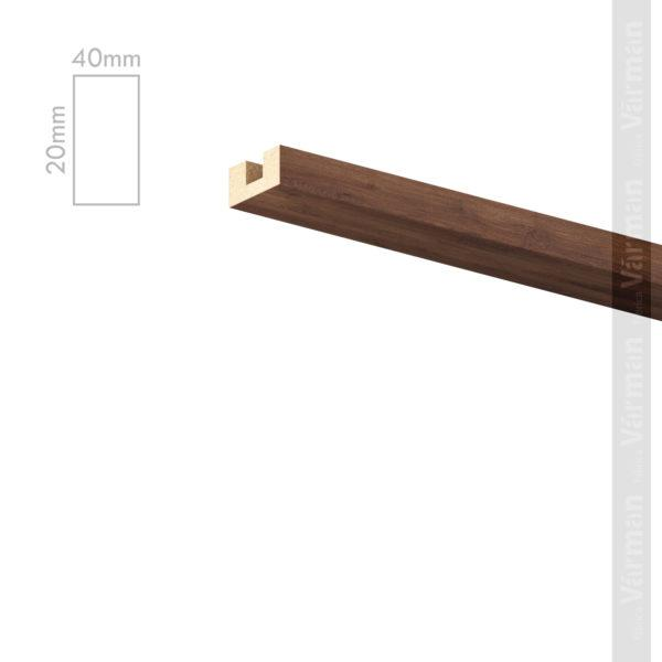 Рейка потолочная 40✕20 (20х40х20) Декоративные панели МДФ, Панель МДФ, Фанерирование, Декоративные стеновые панели, стековые панели для внутренней отделки, декоративные панели для стен, Декоративные стековые панели, Шпонированные панели МДФ, Шпонированные панели, фанерованные панели МДФ, Производство панелей из МДФ, стековая МДФ панель, ламель, рейка, баффель, брусок, реечный потолок, балка, палка, реечные перегородки, декоративные рейки, массив, шпон, декоративные панели, деревянная,Натуральный шпон дуба, ясеня, американского ореха